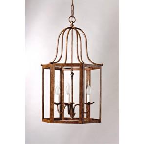 Classique lanterne florentine en fer forgé traditionnel, forme de cage à oiseau