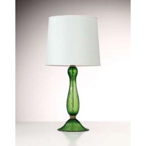 Lampe en forme de balustre, en verre soufflé artisanal de Murano