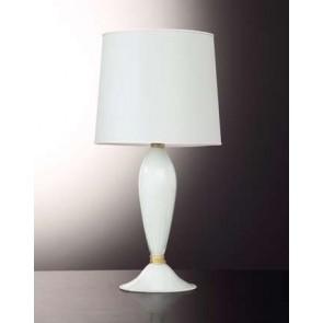 Pied de lampe en verre soufflé artisanal de Murano