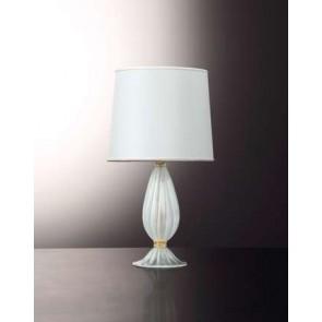 Pied de lampe en forme de balustre, en verre soufflé artisanal de Venise