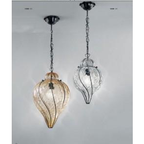 Lanterne classique vénitienne, de fabrication artisanale en verre soufflé