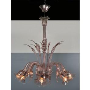 Lustre typique de la production de Murano en verre de Venise soufflé