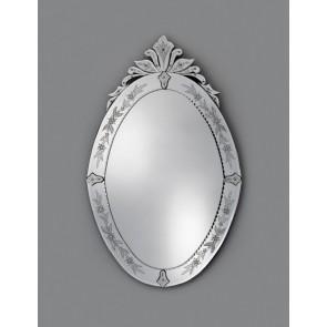 Miroir oval traditionnel vénitien