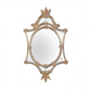 Miroir artisanal et traditionnel en verre de Murano