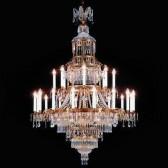 Sublime lustre de style Empire 18 lumières sur 2 niveaux  Une merveille de grande dimension, tout en pampilles