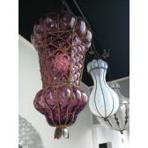 Lanterne vénitienne en verre soufflé de forme guêpière