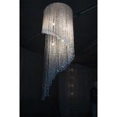Lustre design à pampilles de cristal Swarovski, spirale