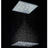 Fontaine de lumière à boules de cristal Swarovski