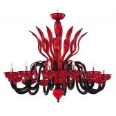 Lustre artisanal en verre soufflé de Venise