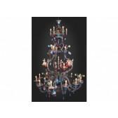Enorme lustre floréal multicolore de Murano, en verre de Venise soufflé