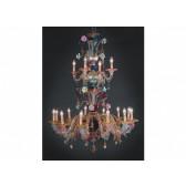 Lustre de Murano monumental, un arc en ciel au plafond