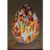 Lampe en verre artisanal de Venise, forme d'oeuf