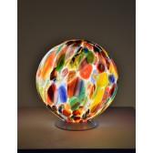 Boule lumineuse en verre de Murano soufflé