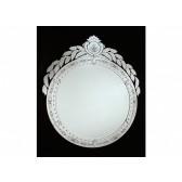 Grand miroir rond de tradition vénitienne, fabrication artisanale