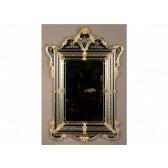 Miroir baroque à parecloses dans la pure tradition de Murano