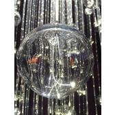 Lustre design en bulles de verre de Murano et fibre optique