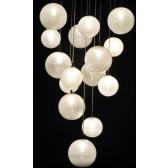 Superbe fontaine de lumière à boules de verre de Venise soufflé