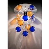 Fontaine de lumière en verre soufflé coloré de Murano