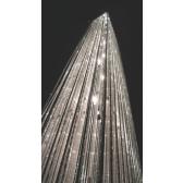 Lampe sur pied géante en cristal et aluminium