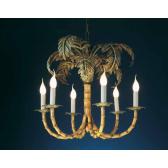 Lustre artisanal en fer forgé en forme de palmier