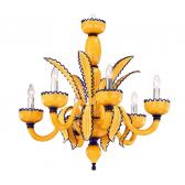 Lustre design de Murano aux couleurs flashy