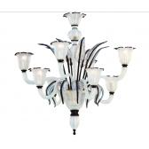 Lustre en verre soufflé de Murano au design résolument moderne