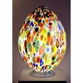 Lampe en forme d'oeuf  en verre artisanal de Venise.