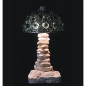 Lampe artisanale fabriquée à partir de verre recyclé, modèle noir