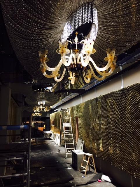 Lustres en verre de Murano pour le Lido