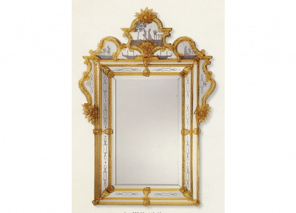 Miroirs vénitiens de Murano de fabrication artisanale
