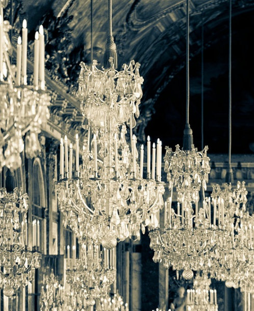 "Lustre baroque à pampilles, gamme  ""tradition"""