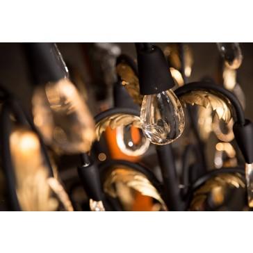 Lustre baroque à pampilles rétro-éclairées