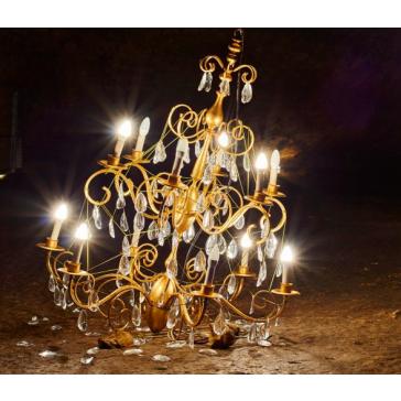 Lustre crée par Damien Aspe, lustre labellisé par le ministère de la culture