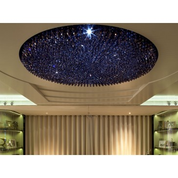 Fontaine de lumière colorée, à perles de cristal