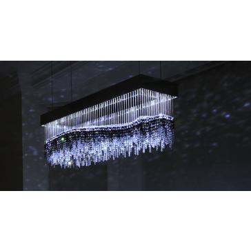 La mer en fontaine de lumière, lustre design