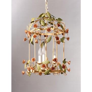Merveilleuse lanterne artisanale floréale en fer forgé traditionnel