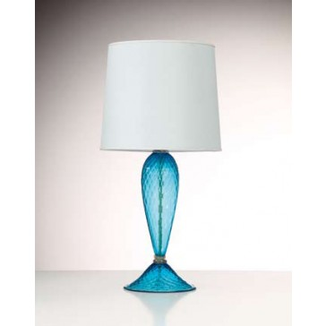 Pied de lampe artisanal en verre soufflé vénitien: Murano