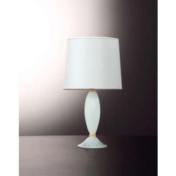 Pied de lampe en forme de balustre, en verre soufflé artisanal de Murano