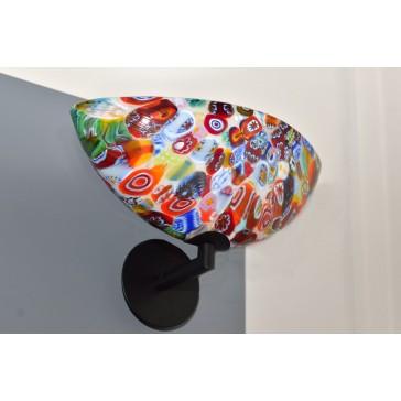 Applique murale en verre soufflé de Murano