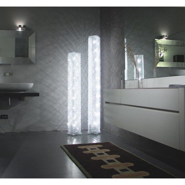 lampe artisanale faite de grille de verre recycl i. Black Bedroom Furniture Sets. Home Design Ideas