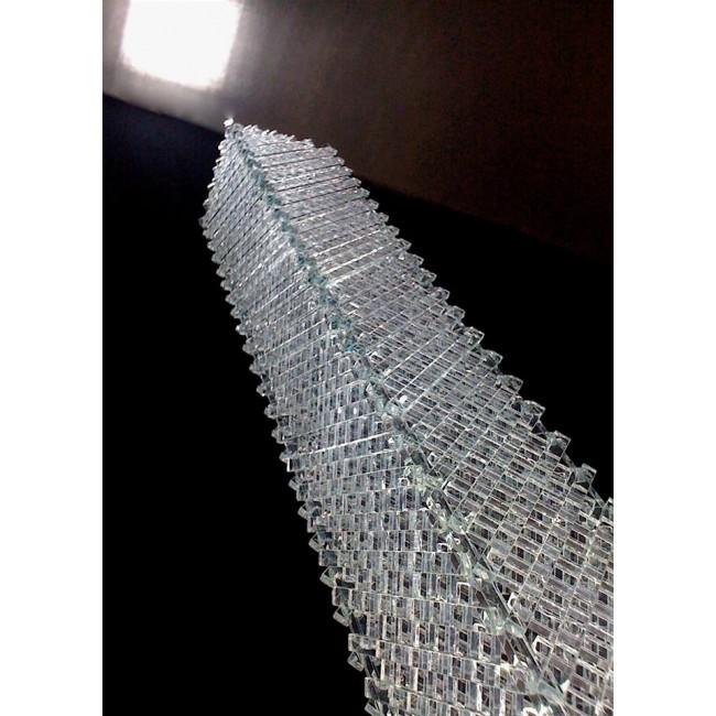 lampe artisanale faite de grille de verre recycl luminaire contemporain i. Black Bedroom Furniture Sets. Home Design Ideas