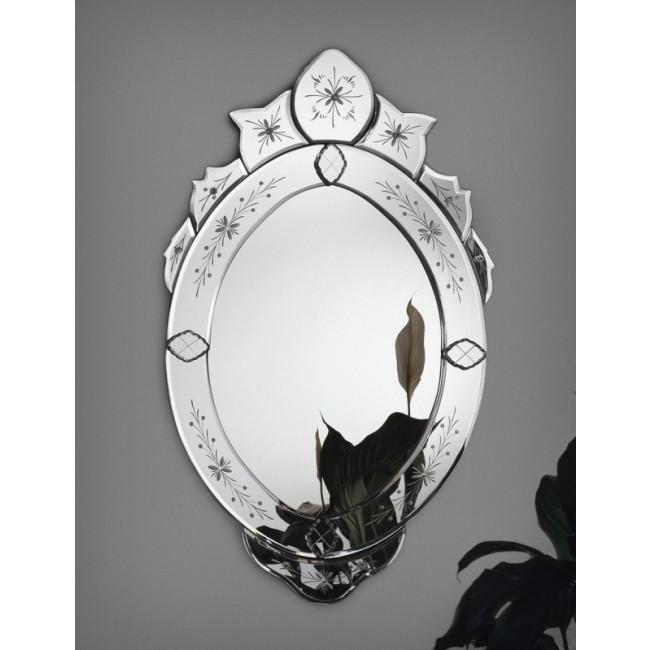 Miroir v nitien traditionnel en verre de murano miroirs for Miroir venitien