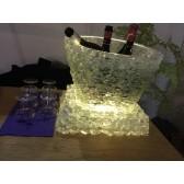 Seau à champagne lumineux