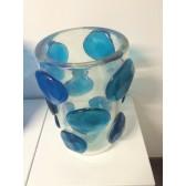 Vase artisanal à poids,  en verre artisanal de Murano