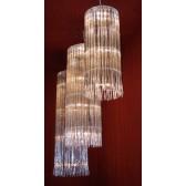 Fontaine lumineuse, fabrication artisanale sur mesure en cristal Swarovski et aluminium