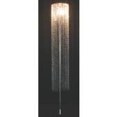 Lampe sur pied de fabrication artisanale à pampilles de cristal Swarovski