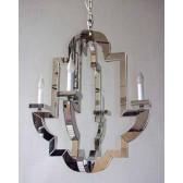 Lustre baroque revisité recouvert de miroirs.. un effet incroyable!