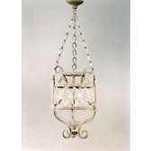 Lanterne type Liberty à perles de verre artisanal de Murano
