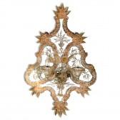 Exceptionnelle applique miroir en verre artisanal de Murano