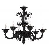 Lustre design de Murano avec des pampilles de verre soufflé de Venise